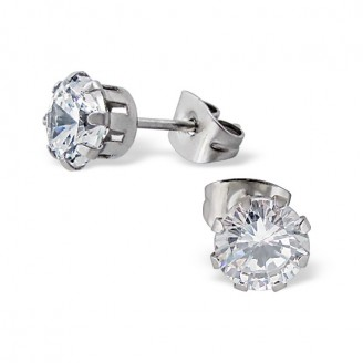 """Náušnice z chirurgické oceli s krystaly """"Caileigh"""""""